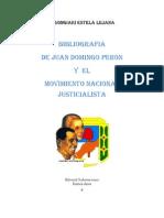 Bibliografía sobre Perón y del Movimiento Justicialista