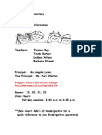 Kindergarten Handbook Revised 12_13