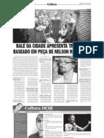 Balé da Cidade apresenta trabalho baseado em peça de Nelson Rodrigues