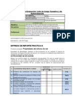 Lista de Cotejo Reporte PIII