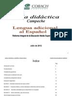 Guía didáctica Inglés III 2012B