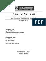 Informe Mensual Junio 2012