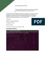 Configuración de un Servidor DNS UBUNTU