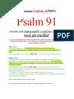 Do RCs Know Psalm 91