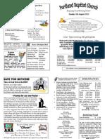 PBC Bulletin - August 5