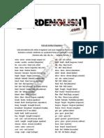 Avulsos Lista de Verbos Irregulares