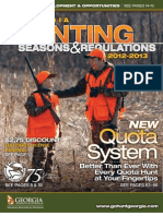 2012 - 2013 Ga Hunting Regulations