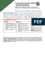 Proceso de Asimilación Ejército 2012-2013