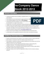 Pre Company Handbook 2012-13