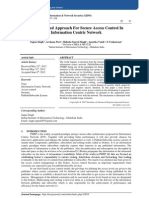 A Trust Based Approach For Secure Access Control In  Information Centric Network