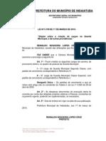 5709 - Lei de Criacao Cargos Da Guarda Municipal - Adm. 30701.08