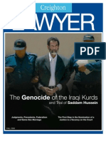 The Genocide of the iraqi kurds and Trial of saddam hussein