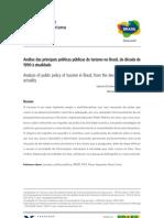 artigo revista OIT_análise das principais políticas públicas de turismo no Brasil da década de 1990 até a atualidade
