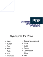5. Developing Pricing Strategies and Programs