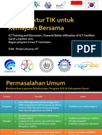 Infrastruktur TIK Untuk Kemajuan Bersama