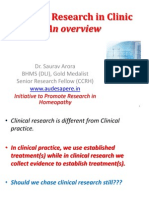 Clinical Researh in Clinics