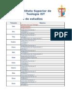Pensum Academico IST