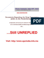 Documents Regarding the Drug Prescription Power to the Physiotherapists