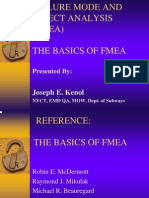 Failure Mode and Effect Analysis (Fmea) the Basics of Fmea