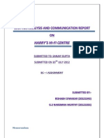 Written Analysis and Communication Report