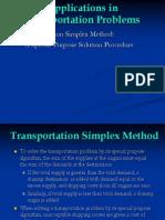 Applications in Transportation
