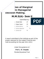 86715525 Marginal Costing in Managerial Decision Making