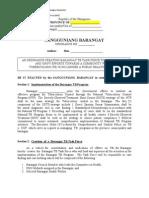 Sample Brgy Ordinance Creating TB Task Force