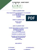College Pasteur - Saint Remy Lundi 12 Janvier 2009