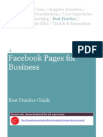 SAMPLE - Facebook Pages for Business Best Practice Guide