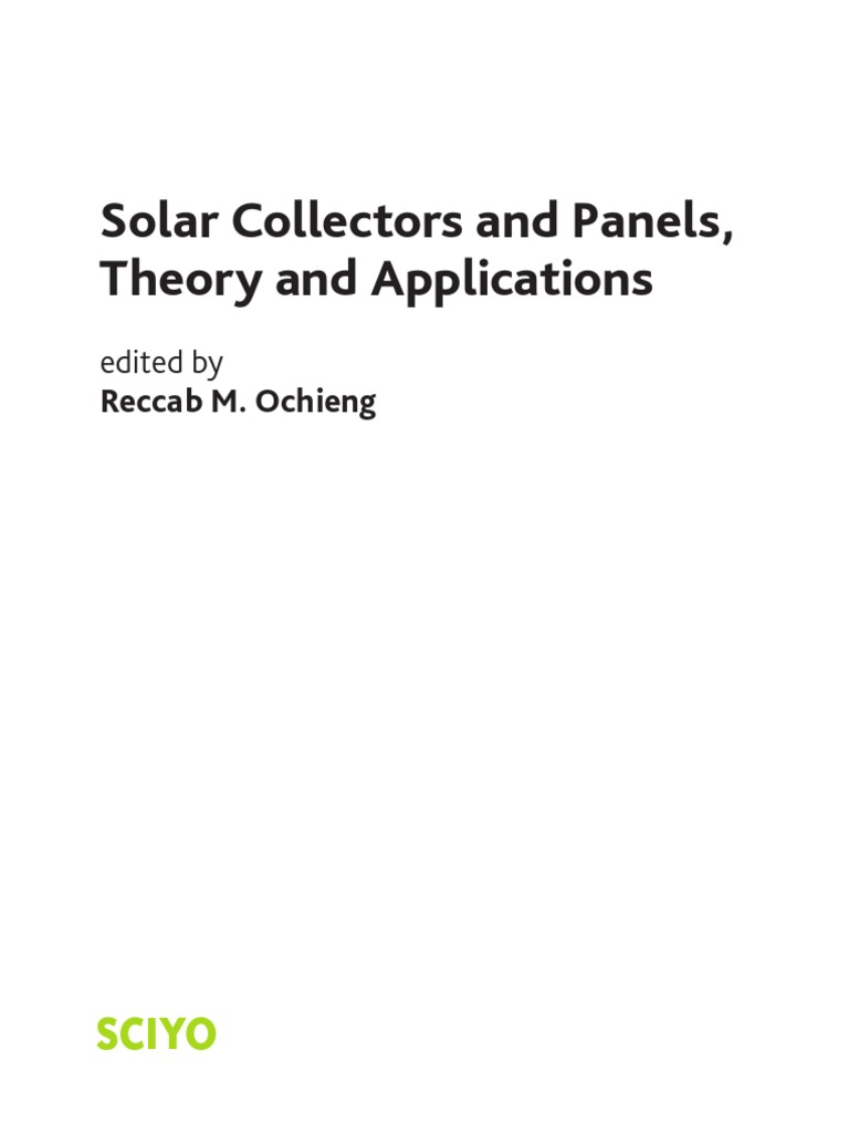 31bec7a3194 Solar Collectors and Panels Theory and Applications