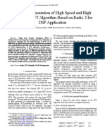 VLSI Implementation of High Speed and High Resolution FFT Algorithm Based on Radix 2 for DSP Application