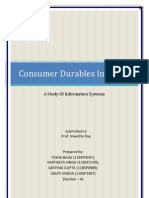 Consumer Durables Industry Project in ISM