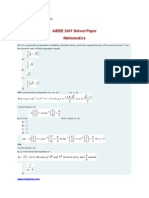AIEEE 2007 Solved Paper