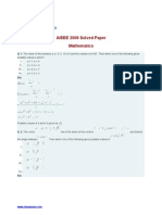 AIEEE 2008 Solved Paper