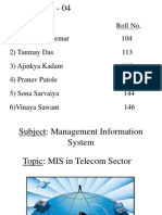 MIS in Telecom Sector