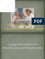 Behavioral Management in Chronically Ill and Older Adults