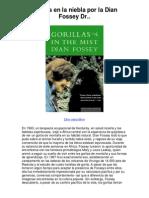 gorilas en la niebla por la dian fossey dr - 5 estrellas reseña del libro