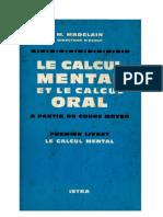Mathématiques Classiques Calcul Mental Livret 1 Madelain 1963