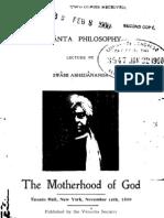 The Motherhood of God, by Swami Abhedananda