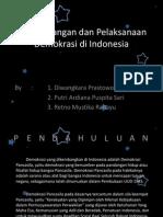 Perkembangan Dan Pelaksanaan Demokrasi Di Indonesia