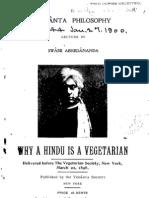 Why a Hindu is a Vegetarian? - by Swami Abhedananda