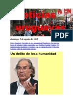 Noticias Uruguayas Domingo 5 de Agosto Del 2012