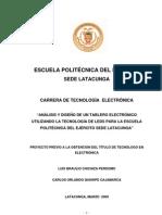 ANALICIS Y DISEÑO DE TABLERO ELECTRONICO USANDO TECNOLOGIA DE LEDS