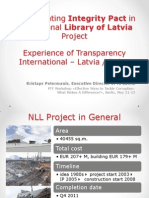 Implementing Integrity Pact in the National Library of Latvia Project
