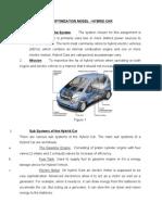 Optimization Model - Hybrid Car