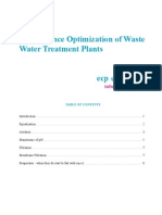Performance Optimization of Wastewater Treatment Plants