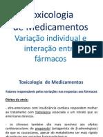 Toxicologia de Medicamentos