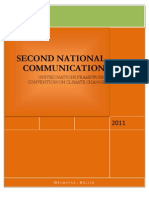 Belize, Second National Communication on Climate Change, 2011