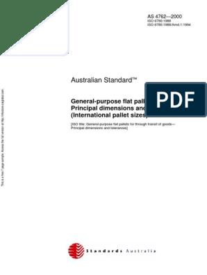 As 4762-2000 General-Purpose Flat Pallets - Principal