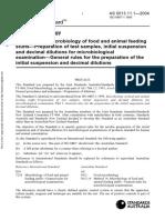 As 5013.11.1-2004 Food Microbiology - Microbiology of Food and Animal Feeding Stuffs - Preparation of Test Sa